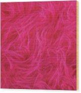 Pink Plush Fabric Wood Print