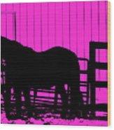 Pink Pony Wood Print