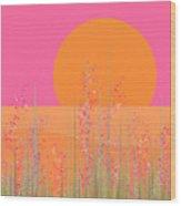Pink Prairie Flowers Wood Print