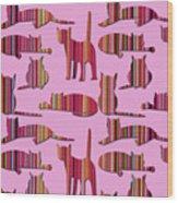 Pink Pussy Cat Wood Print