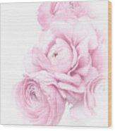 Pink Ranunculus Bouquet Wood Print