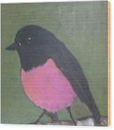 Pink Robin Wood Print