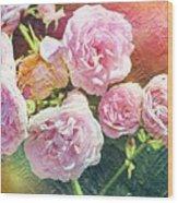 Pink Rose Artwork Wood Print