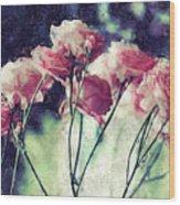 Pink Rose Flowers Wood Print