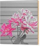 Pink Rose Tree Pop Wood Print