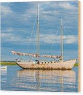 Pink Sailboat 3 Wood Print