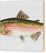 Pink Salmon Wood Print