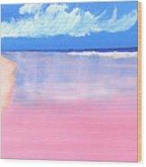 Pink Sand In Harbor Island - Bahamas Wood Print
