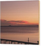 Pink Skyline Wood Print
