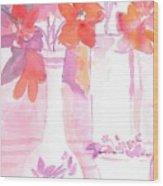 Pink Still Life Wood Print