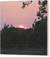 Pink Sunrise Wood Print