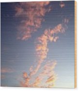 Pink Sunset One Wood Print