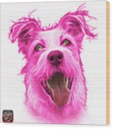 Pink Terrier Mix 2989 - Wb Wood Print