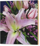 Pink Tiger Lily Wood Print