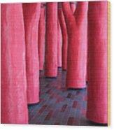 Pink Trees Palais Des Congres Montreal City Wood Print