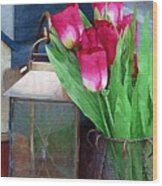 Pink Tulips Wood Print