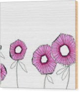 Pink Up Wood Print