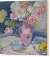 Pink Vase Wood Print