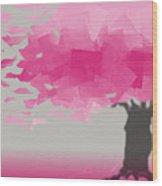 Pink Wind Wood Print