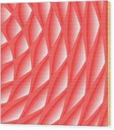 Pinked Wood Print