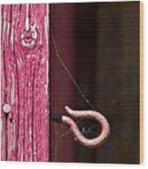 Pinked In Wood Print