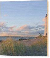 Pinkish Lighthouse Wood Print