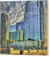 Pinnacle Building Sunset Nashville Shadows Nashville Tennessee Art Wood Print