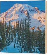 Pinnacle Saddle Winter Wood Print