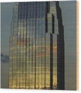 Pinnacle Sunset Reflection Wood Print