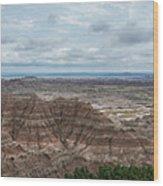 Pinnacles Overlook Panorama  Wood Print