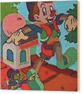 Pinocchio Wood Print