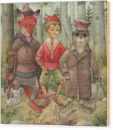 Pinocchio01 Wood Print