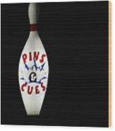 Pins And Cues Wood Print