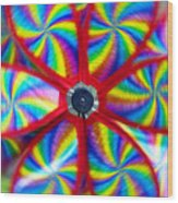 Pinwheel Wood Print by Michal Boubin