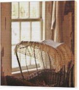 Pioneer Baby Bassinet Wood Print
