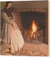 Pioneer Fire Impressions Wood Print