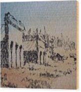 Pioneer Ghost Town Montana Wood Print