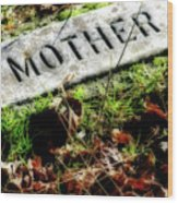 Pioneer Grave Wood Print