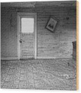 Pioneer Home Interior - Nevada City Ghost Town Montana Wood Print