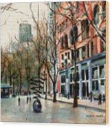 Pioneer Square Wood Print