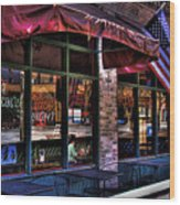Pioneer Square Tavern Wood Print