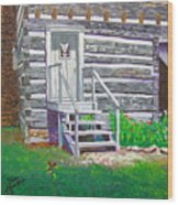Pioneer Village II Wood Print