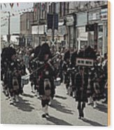 Pipe Band Highland Games Scotland Wood Print