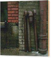 Pipe  Bricks Wood Print