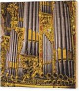 Pipe Organ Detail Wood Print