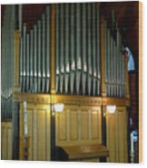 Pipe Organ Of Old Wood Print