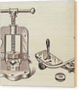 Pipe Vise Wood Print