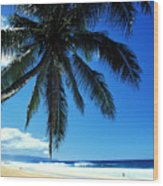 Pipeline Beach Wood Print