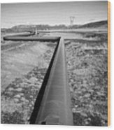 pipeline carrying hot water to reykjavik from Hellisheidi geothermal combined heat and power station Wood Print