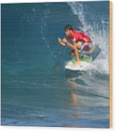 Pipeline Masters Champion Wood Print by Kevin Smith